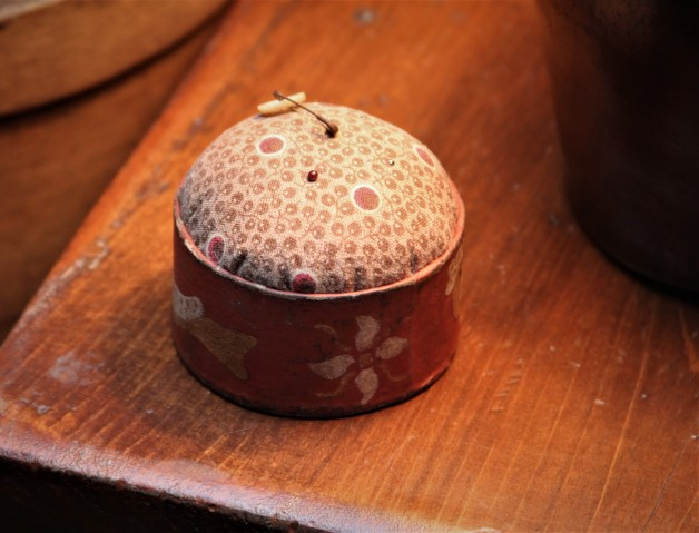 Hand made pin cushion red