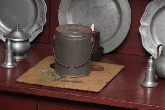 Old Tin can with handle