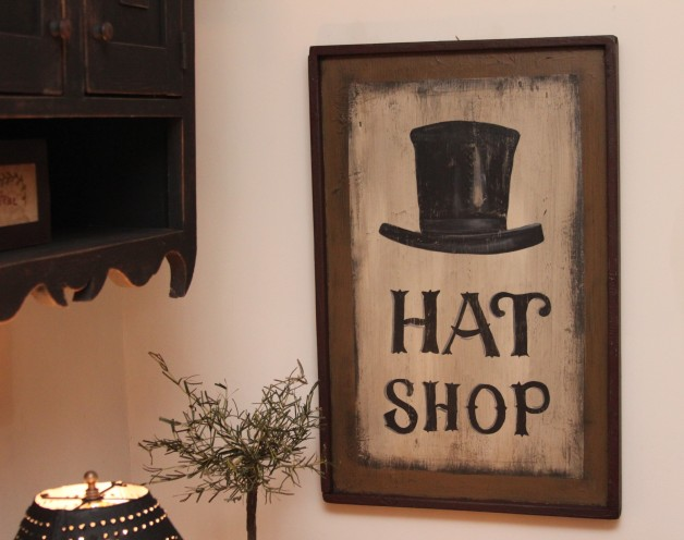 Hat Shop sign
