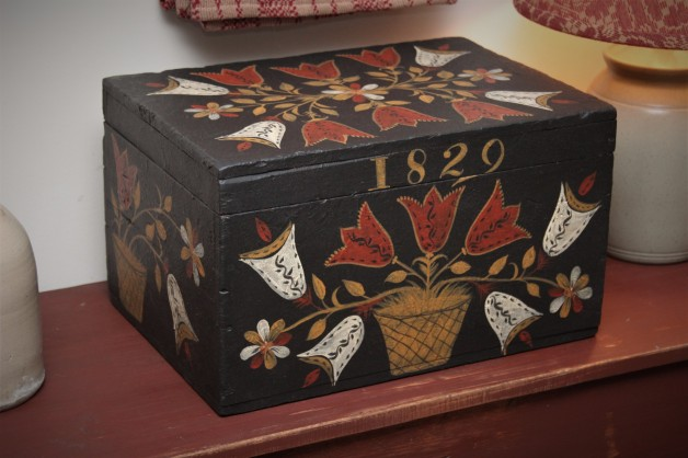 Antique box with 1829 blanket chest design Boston Museum of Art