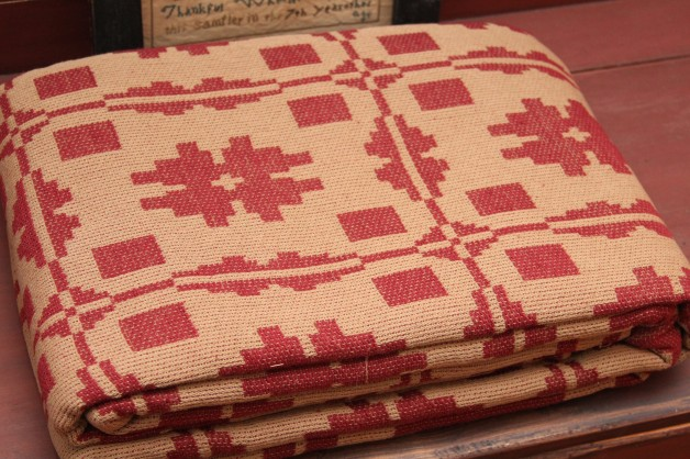 Savannah queen coverlet  Red