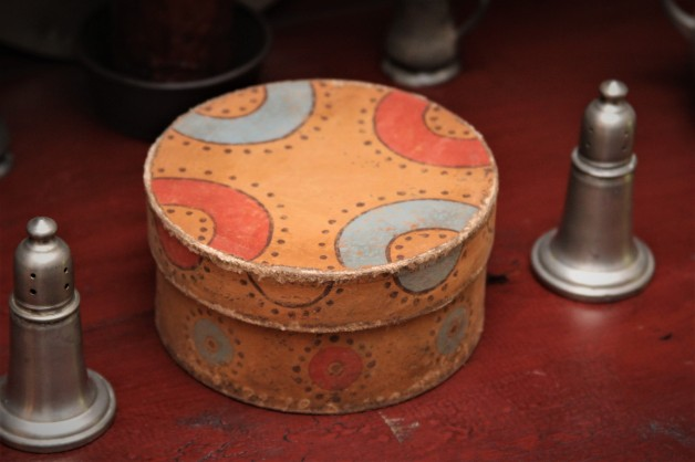 Five inch hand painted box #1