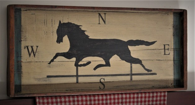 Old Fudge tray with horse weather vane design