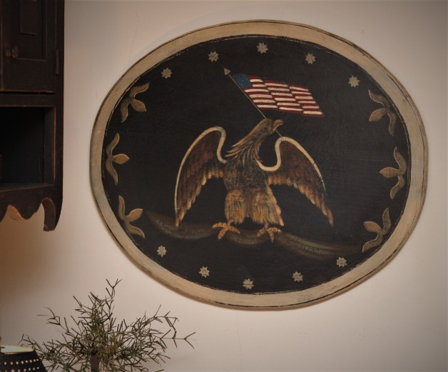 Oval Eagle with banner