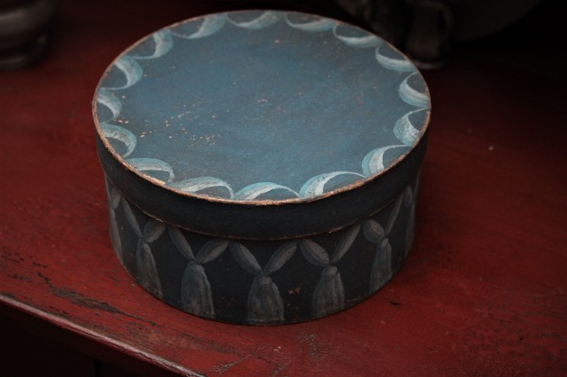 Pam Gill hand painted blue box #4