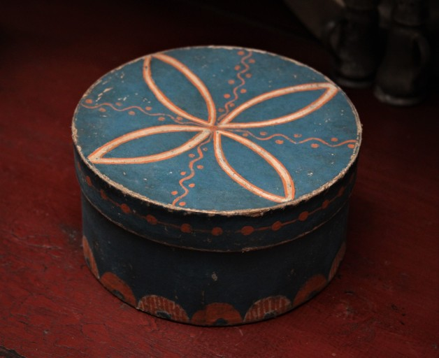 Pam Gill hand painted blue box #3