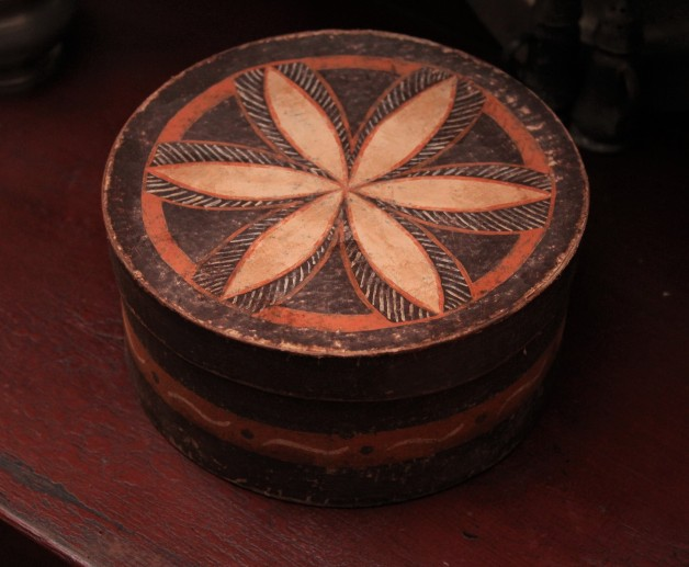 Pam Gill hand painted brown box #4