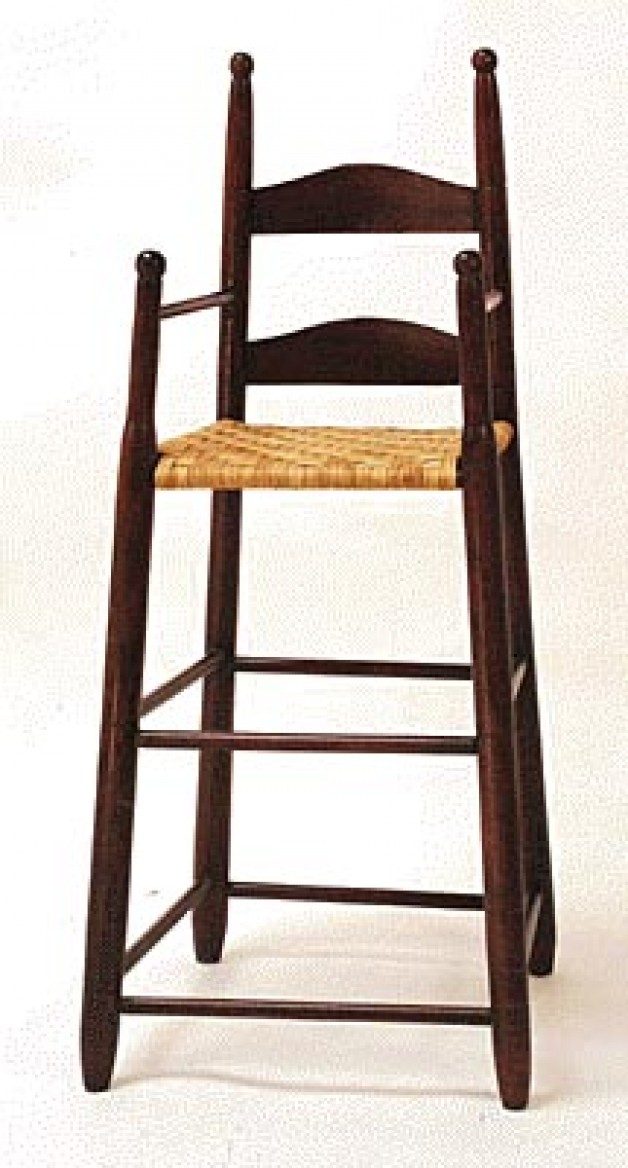 Ladder Back Youth Chair w/cane seat