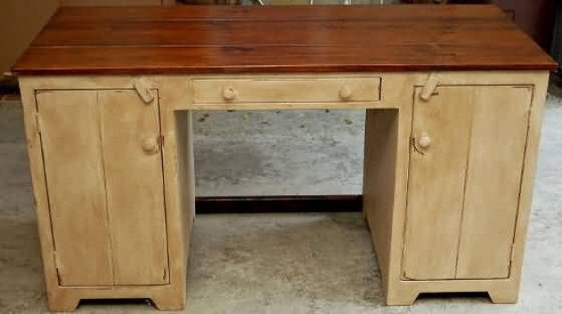 Primitive desk without top