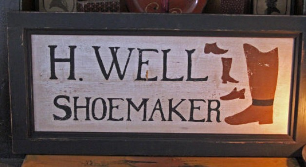 H Well Shoemaker Sign