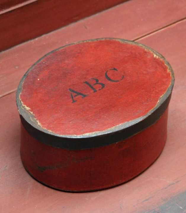 Red Oval ABC box