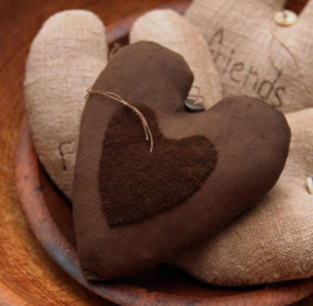 Heart with heart applique