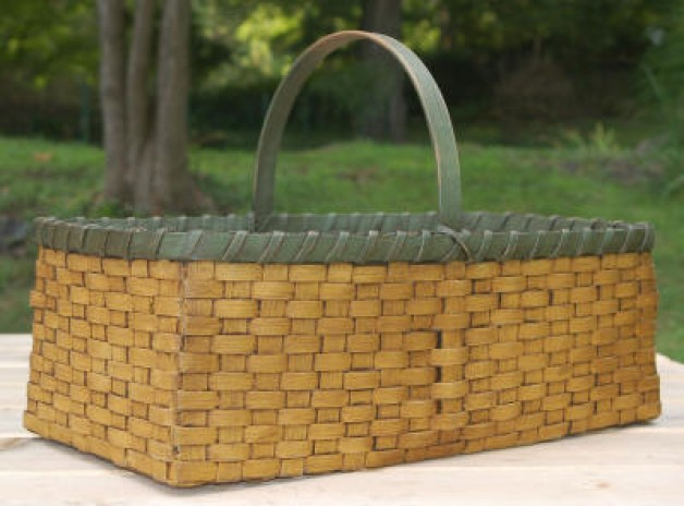 Long Basket in Mustard