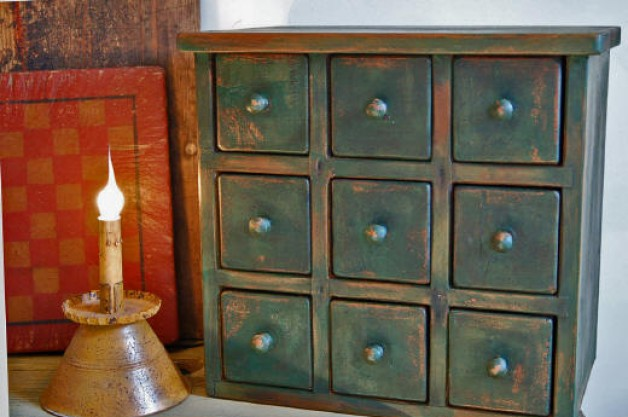Nine Drawer Apothecary