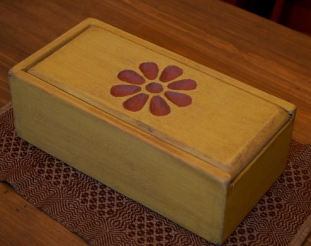 Carved Top Candle Box