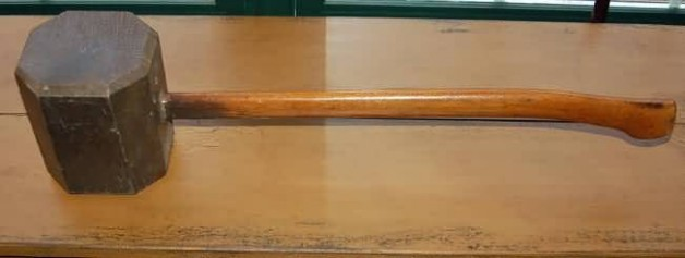 Primitive wooden mallet
