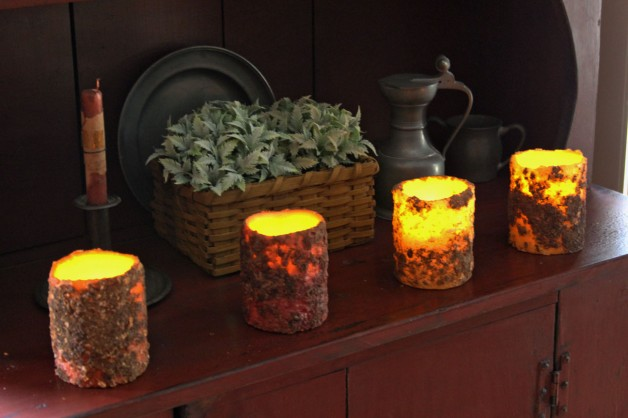 Battery operated pillar candle 4×3″