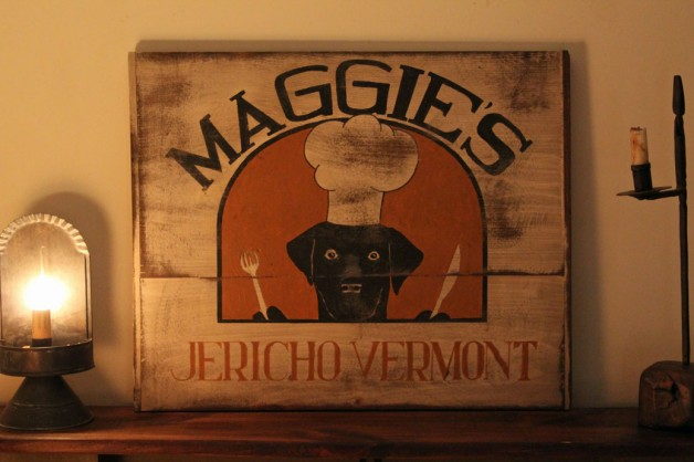 Vermont wood sign