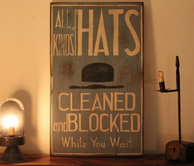 Hats Derby sign