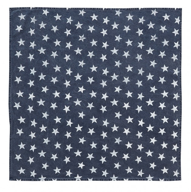 Multi Star Navy Table Topper 40×40