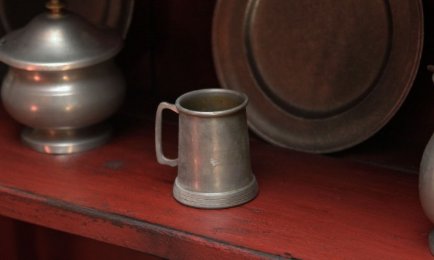 small pewter mug