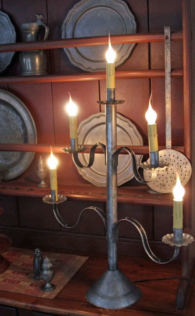 Five Arm Tin candelabra