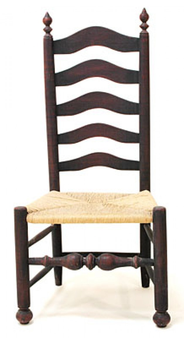Delaware Valley ladderback side chair