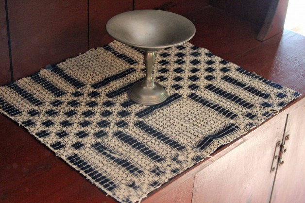 Antique coverlet piece 18×16