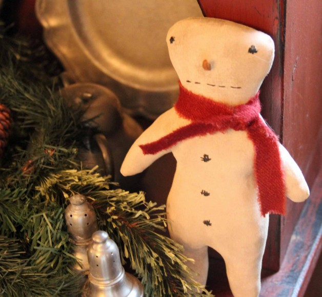 Barbara Young cupboard snowman