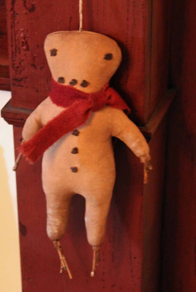 Barbara Young twig arm hanging gingerbread man