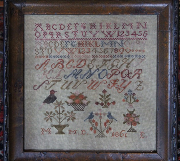 Motif sampler framed