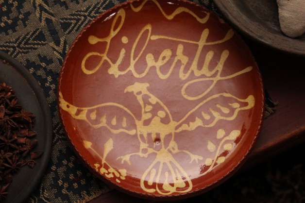 David T. Smith Redware plate Liberty