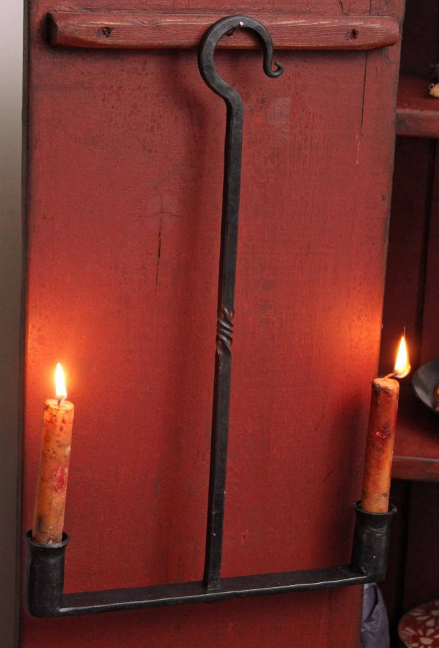 Double hanging Iron candle holder