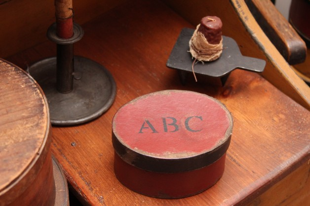 ABC red oval box