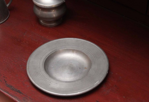 Small pewter dish