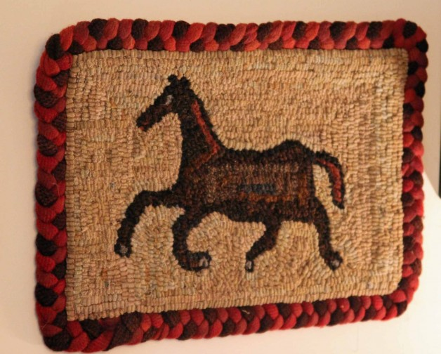 Horse with braid