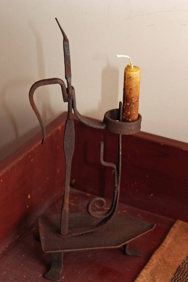 Old Iron rusty candle holder