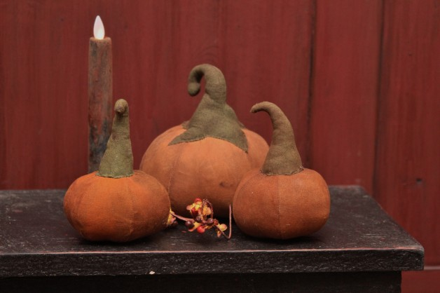 Aged orange pumpkins