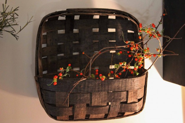 Antique wall basket