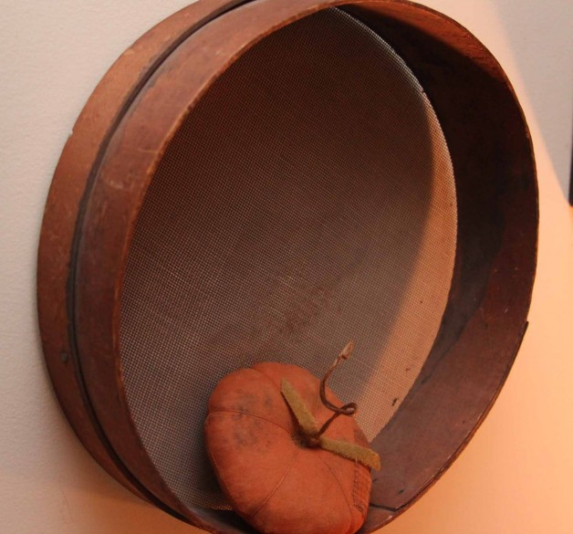 Early 1900's round wood sifter