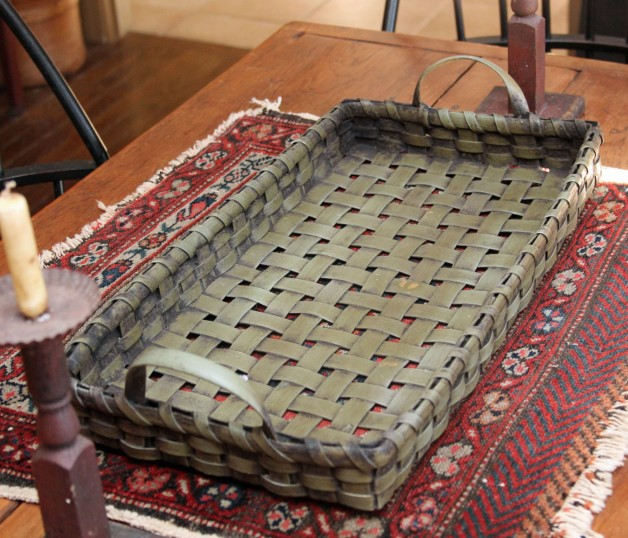 Sage/green tray basket