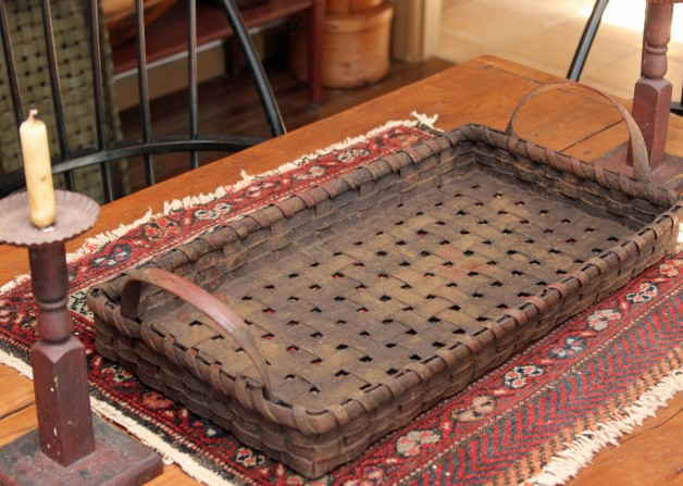 Red grungy tray basket