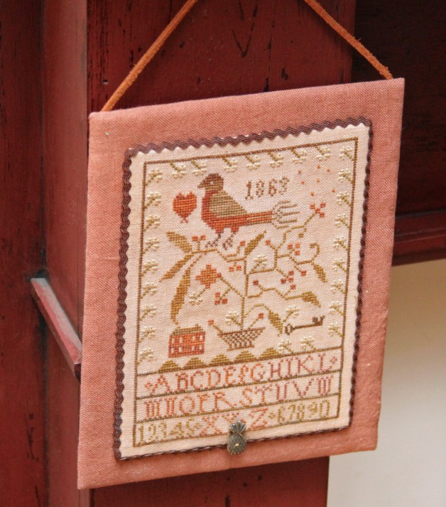Bird in tree hanging sampler