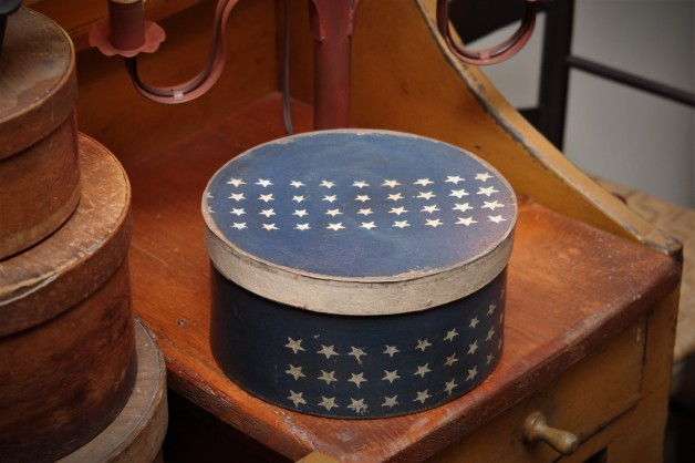 Navy box with stars