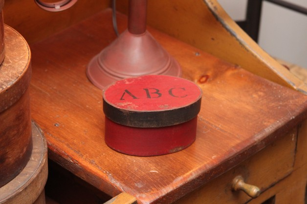 Small red ABC box