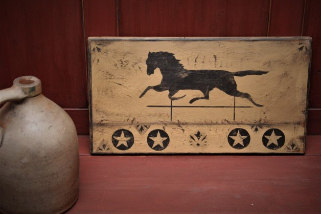 Horse weathervane design with penny stars