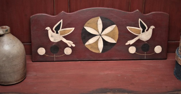 Antique blanket chest design headboard #2