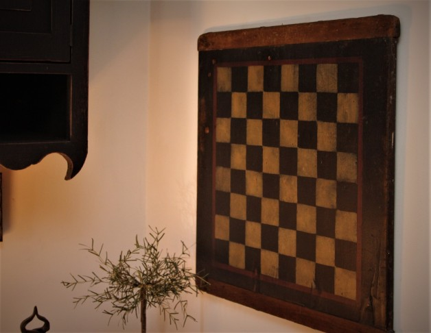 Checkerboard on old breadboard