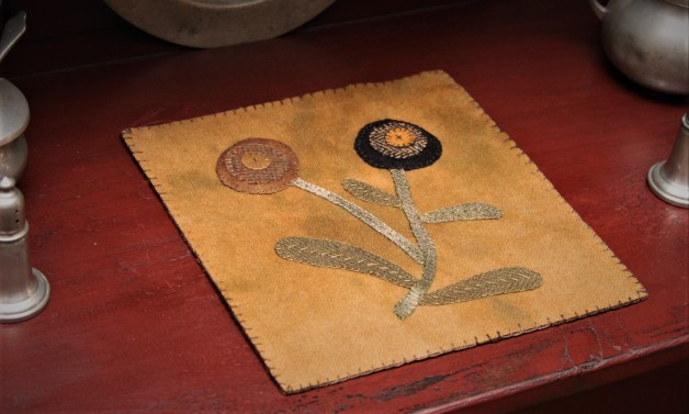 Posie candle mat #1
