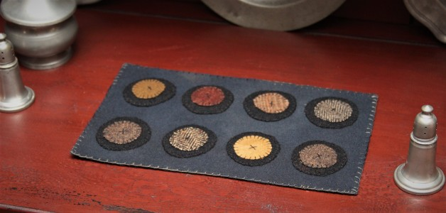 Eight pennies candle mat #2